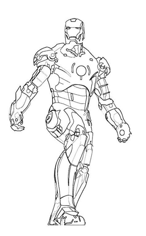 iron man walking coloring page kids coloring pages