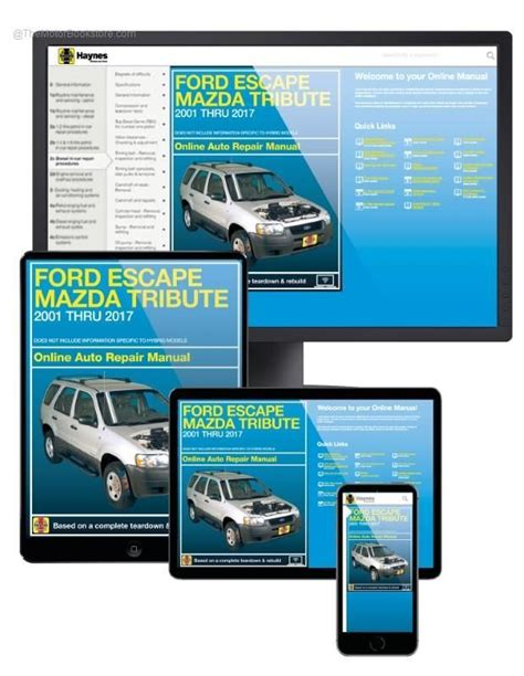 online service manuals 2001 ford f series spare parts catalogs ford escape mazda tribute online service manual 2001 2017