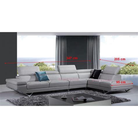dimension canapé d angle canapé d 39 angle en cuir véritable siena pop design fr