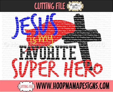 jesus   favorite super hero embroidery  cutting
