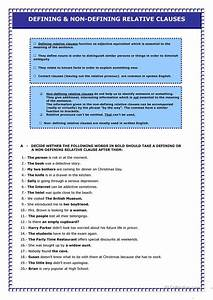 Relative Clauses Worksheet