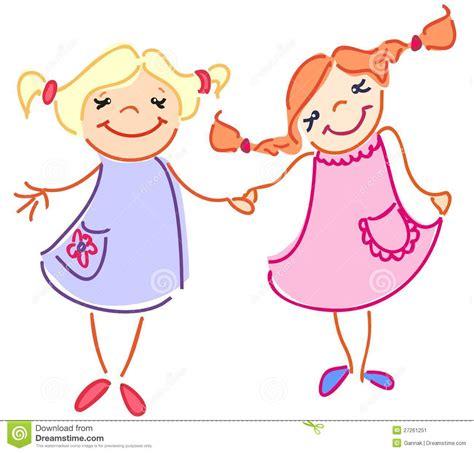 2 filles en cuisine c est amitié de deux filles stock illustrations vecteurs