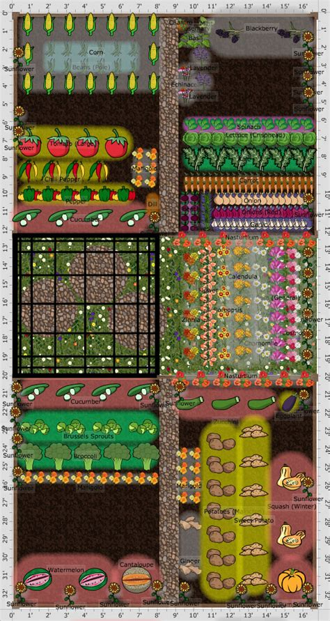 companion vegetable garden layout   farmers almanac
