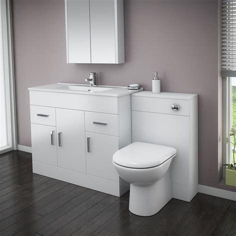 turin high gloss white vanity unit bathroom suite