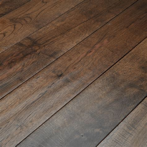 scraped wood abbey whitland 125mm hand scraped coffee oak solid wood