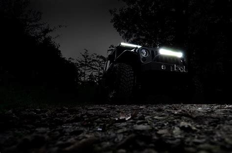 jeep light bar at night 20 inch cree led light bar 70920 rough country