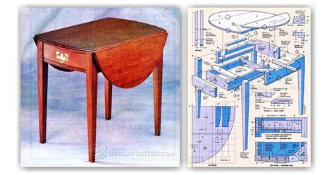 drop leaf table construction drop leaf end table plans woodarchivist