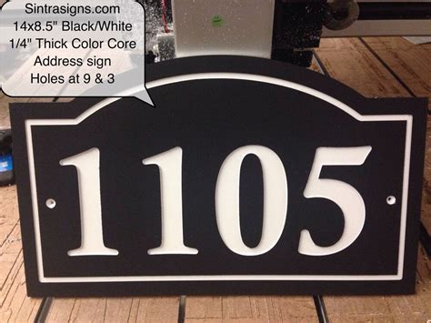 arched house number sign address plaque   king
