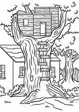 Coloring Treehouse Pages Jack Tree Printable Magic Annie Bathroom Corner Both Designs Communiti sketch template