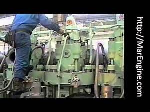 Man B U0026w S50mc Cylinder Cover Dismantling
