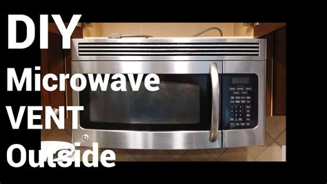 built in microwave ovens with exhaust fan over range microwave vent to outside youtube
