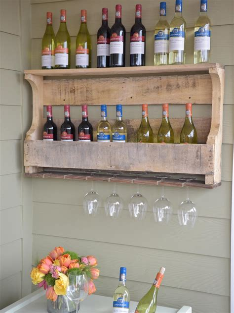 how to make a wine rack in a cabinet how to make a wine rack from a wood pallet hgtv