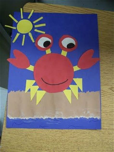 crab craft idea  kids crafts  worksheets