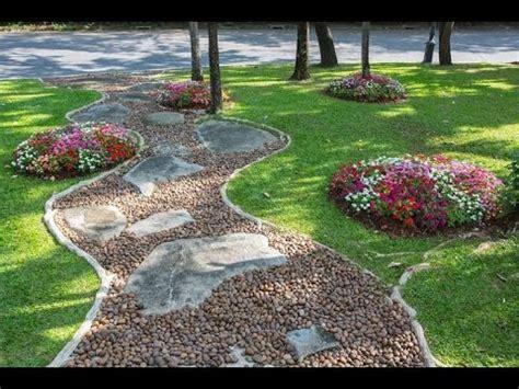 como hacer jardines  piedras youtube