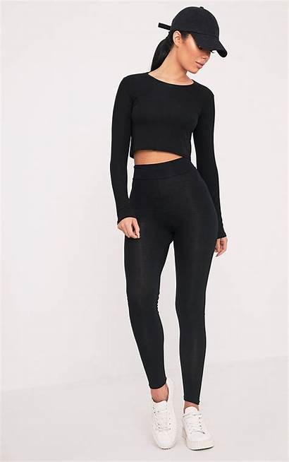 Leggings Legging Outfit Jersey Waisted Outfits Femme
