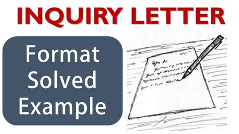 write inquiry letter inquiry letter format