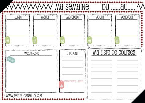carnet de cuisine vierge planning repas de la semaine vierge à imprimer sous forme