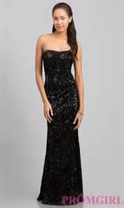 black sequin bridesmaid dresses black sequin prom dresses strapless sequin gowns promgirl