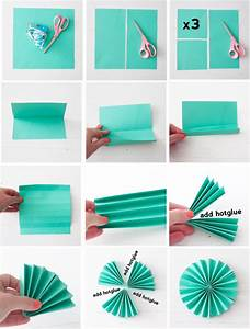 Folding paper fans » Be Crafty