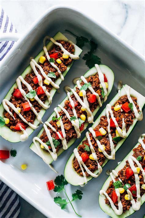 Taco Burrito Boats by Vegan Zucchini Taco Boats Thyme For Health