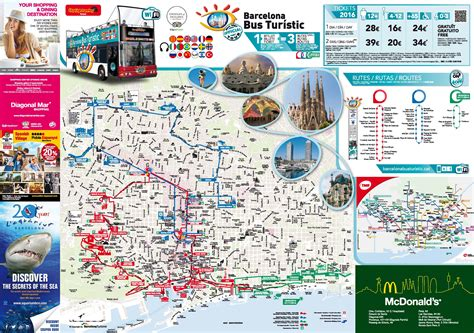 barcelona attractions map   printable tourist map