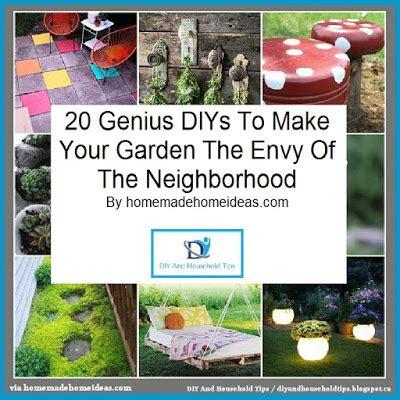 diy and household tips 20 genius diys to make your garden