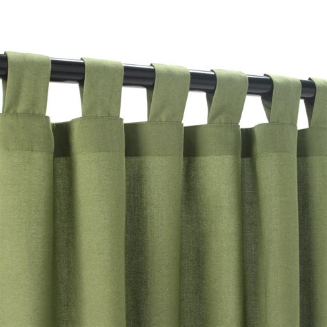 spectrum cilantro sunbrella outdoor curtains with tabs