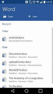 Smartphone office word 2016 tutorials for Word documents for android