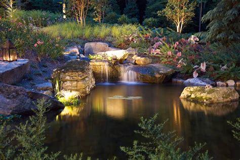garden pond lighting ideas landscape lighting for northern virginia gardens surrounds landscape architecture