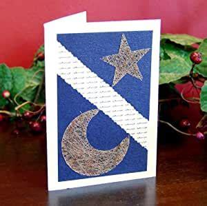 amazoncom handmade arabic moon  star eid card fair