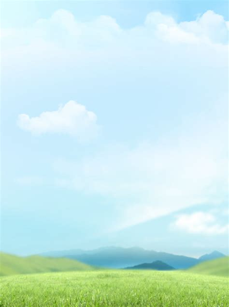 Blue Sky White Clouds Hand Drawn Background Format Ink