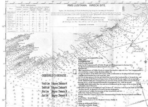 Where Did The Lusitania Sink Map by Last Resting Place