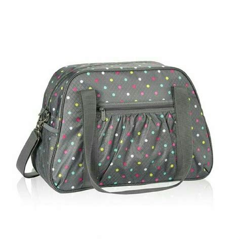 gray pin dot my anywhere thirty one all in tote grey w polka dot thirty one