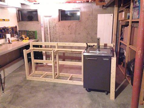Basement Bar Height by Back To The Trees Basement Bar Framing A Basement Bar