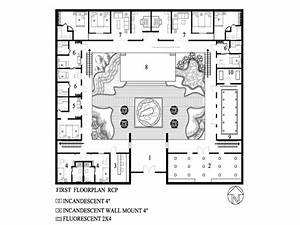 One Story House Plans With Inner Courtyard