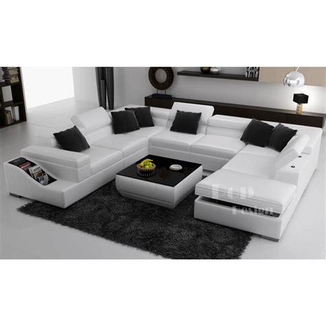 canape d angle en u canapé d 39 angle panoramique en cuir jazzy canapés en u