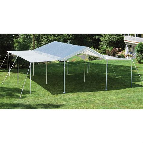 canopies and tarps shelterlogic 2 in 1 canopy extended event tent 222737