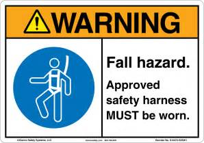 Fall Hazard Safety Signs