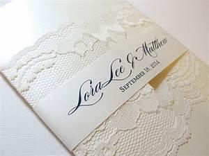 romantic lace vintage wedding invitation elite wedding looks With wedding invitations wrapped in lace