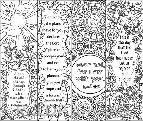8 bible verse coloring bookmarks ricldp artworks