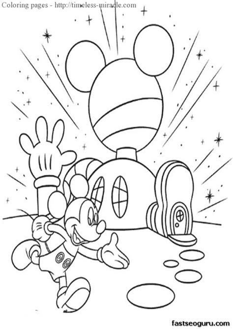 coloring pages mickey mouse clubhouse timeless miraclecom
