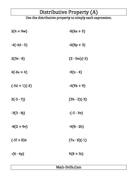 using the distributive property answers do not include