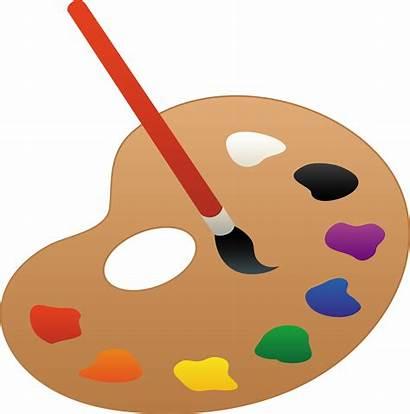 Palette Paint Clip Clipart Transparent Artist Colors
