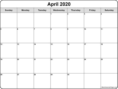 april calendar printable monthly calendars