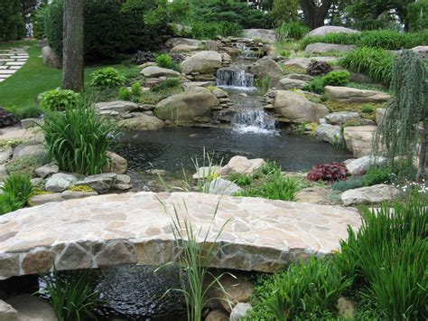 garden waterfall pond waterfall pond in connecticut waterfall in pond