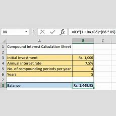 Compound Interest Formula And Excel Calculator The