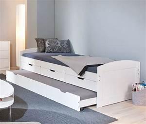 Betten Für Teenager : ausziehbett in wei auch als g stebett geeignet leon ~ Pilothousefishingboats.com Haus und Dekorationen