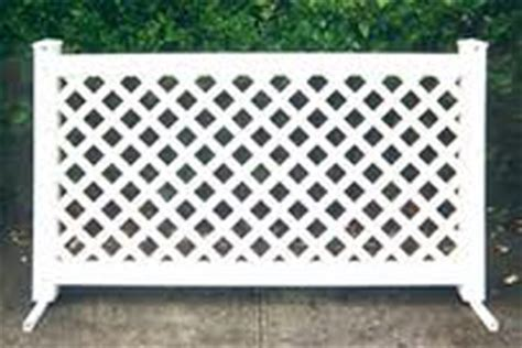 fencing white vinyl lattice section arizona party
