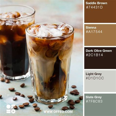 The combo library provides a convenient way to search brown color schemes. 20 Earthy Shades of Brown for Inspiration | OFFEO | Brown color palette, Coffee brown color ...