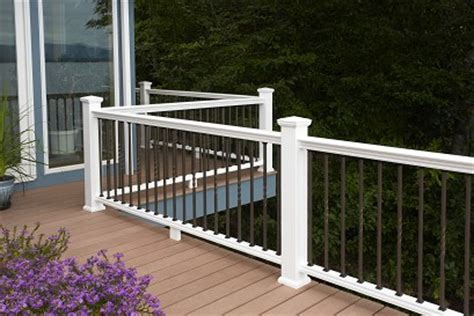 certainteed decking vs trex panorama composite railing by bufftech